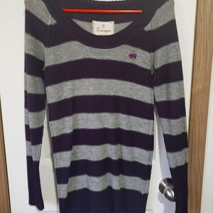 Energie knit sweater purple and gray